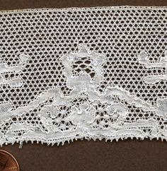 Pair of 19th C Handmade Kat Stitch Bobbin Lace Cuffs Costume Collect | eBay