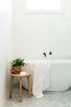 Matt black taps - Scandinavian Bathroom by Caroline McCredie