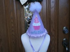 Girls First Birthday Party Hat  Cupcake Baby Birthday by LilLids, $24.99