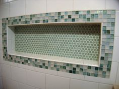 bathroom showers with tile subway tile shower with accent and soap niche 16414