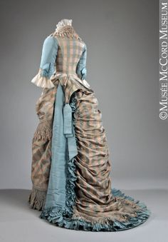 Evening dress, c 1873  (looks more like a day outfit to me, but w/e)