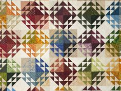 Corn and Beans Quilt -- superb cleverly made Amish Quilts from Lancaster (hs6853)