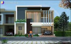 Today we showcase a Modern Punjab Home Design By Unique Architects.This Modern four bedroom house has a complete glass window in the front view.If you wish to design your home in this modern contem… House Front Design, Roof Design, Modern House Design, Modern Exterior, Exterior Design, House Elevation, Front Elevation, Facade Architecture, Facade House