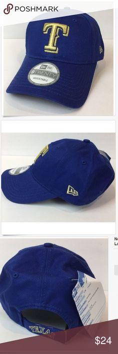 New Era Hat Texas Rangers 9TWENTY Adjustable New Era Texas Rangers 9TWENTY  Adjustable Hat Blue Gold eb3f1172954