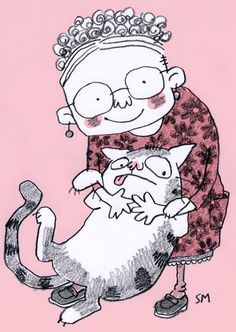 Old Lady and Cat by Sarah McIntyre ~ Illustrations | Jabberworks
