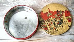 Vintage Small Cookie Tin Tudor Village by MomsantiquesNthings
