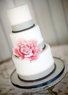 Wedding Cakes - Pink & Grey Cake #2133420 - Weddbook