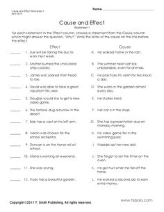 Super Teacher Worksheets has printable cause and effect