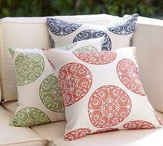 Greta Medallion Indoor/Outdoor Pillow #potterybarn