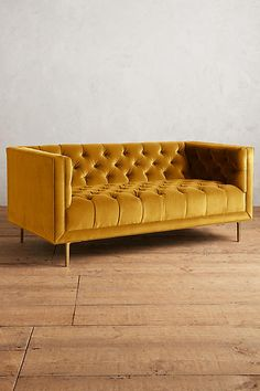 Velvet Mina Settee - anthropologie.com // I can totally see this in my imaginary sewing studio!