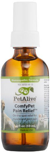 PetAlive Comfypet Pain Relief 2 Fluid Ounce * You can find out more details at the link of the image.(This is an Amazon affiliate link and I receive a commission for the sales)