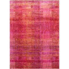 24910 Unstring Asthai Design Rug Pink Wool Bamboo Silk