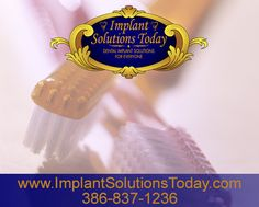 It's important that you use your toothbrush correctly. Always make sure to rinse it in tap water and give it time to air dry. Germs need moisture to survive; a dry toothbrush keeps them at bay. www.implantsolutionstoday.com | 386-837-1236