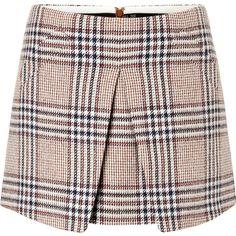 RACHEL ZOE Tartan Print Wool Mini-Skirt found on Polyvore