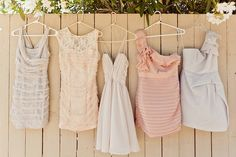 like the mismatched look for bridesmaids