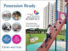 Buy 2/3/4 BHK Flats & Penthouses near Vaishali Nagar. The project is possession ready & equipped with fully functional amenities like gymnasium, clubhouse, swimming pool, kids play area, landscaped garden etc.