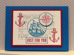 The Open Sea stamps 'Just for You' card - created by Julia Jordan