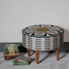 Badger Pattern Round Footstool - furniture