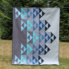 DIGITAL PDF Left the Nest Quilt Pattern Baby Throw Twin Queen King size digital modern quilt flying geese Drunkards Path Quilt, Modern Quilting Designs, Modern Quilt Patterns, Loom Patterns, Quilt Designs, Quilting Patterns, Quilting Ideas, Sewing Patterns, Quilt Kits
