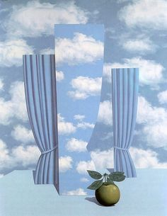 René Magritte - Beautiful World (1962) My favourites - love his cloud curtains