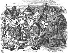 Through the looking glass. Lewis Carroll Illustrations.
