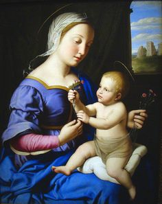 "Sassoferrato (Giovanni Battista S.) ""Madonna & Child"" c. 1650 (at the DIA)"