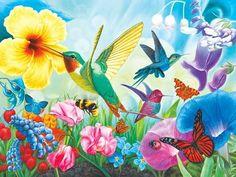 Hummingbird Garden (Puzzle Collector Art 1000)