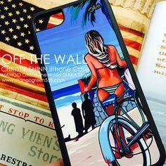 OFF THE WALL iPhone Case by Christie Shinn ヘザーブラウンが絵のモデルのVANSでお馴染みクリスティ・シンのiPhoneケース #vans #beach #ビーチ #iphonecase #iphoneケース #ヘザーブラウン #offthewall #accessories #アクセサリー