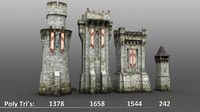Medieval Castle Towers and Walls