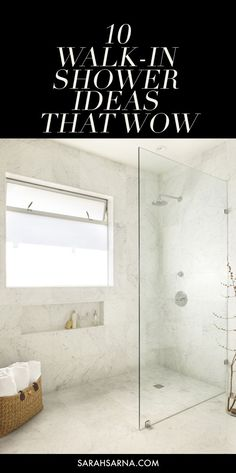 only like 1 of these 10 Gorgeous Walk-In Shower Ideas, guaranteed to inspire your next bathroom remodel or renovation, via @sarahsarna.