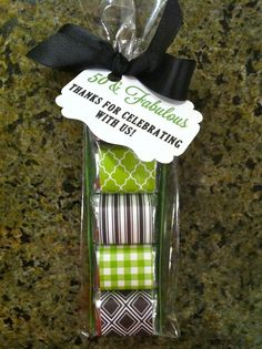 Party favor - Hershey Chocolate Nuggets, craft paper, double sided sticky tape and long pretzel bag and Wa La!