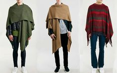 fringes on 3rd cape... A selection of the capes on sale this season in Topman