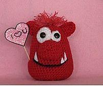 Ravelry: Valentines day monster pattern by Joanna Bapari. PDF SAVED.