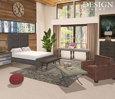 Great Alaskan Wilderness Designed by: AmethystOrange Designs Design Home App, House Design, Outdoor Furniture Sets, Outdoor Decor, Dining Bench, Cabin, Rustic, Interior Design, Room