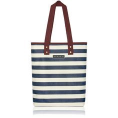 nother Horizontal Stripe Tote Bag (Navy)