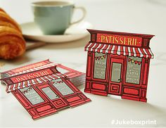 Cute Multi-Colour Letterpress Business Card with Custom Die Cutting. Produced by Jukebox