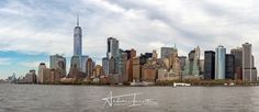New York Manhattan - New York Manhattan Panorama cityscape on sunny day from hudson river