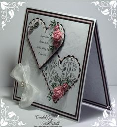 Embossed wedding card