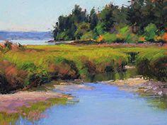 Tidal Marsh by Susan Ogilvie Pastel ~ 9 x 12