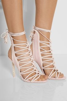 Lacey Crystal Embellished Sandals (I would not have them as heels but that's just me)