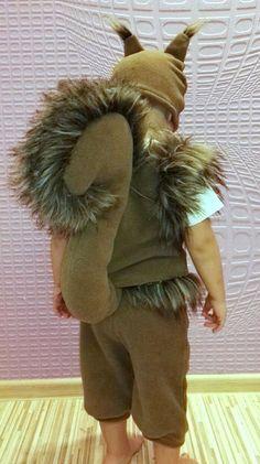 Handmade squirrel boy costume