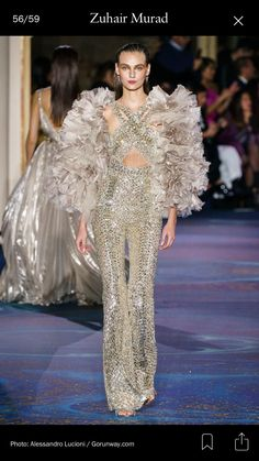 ae9b43a44928d Zuhair Murad Spring 2019 Couture Fashion Show Collection: See the complete  Zuhair Murad Spring 2019 Couture collection. Look 56