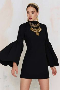 Nasty Gal Kiss and Bell Mini Dress - Black - What's New