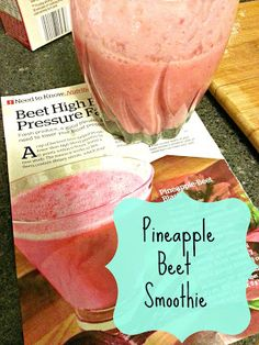 Maybe this would be good for Zach! via: Unus Sed Leona: Iron Rich Pineapple Beet Smoothies Foods With Iron, Foods High In Iron, Iron Rich Foods, High Iron, Beet Smoothie, Power Smoothie, Smoothie Drinks, Healthy Juices, Healthy Smoothies