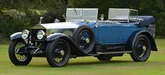 1922 Rolls Royce Silver Ghost Barker Tourer, top down with dual windshields (1024×468)