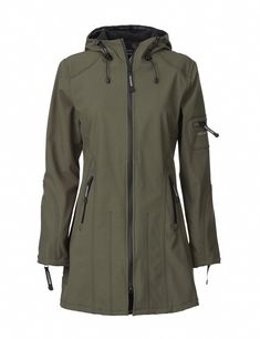 Raincoat Mid Army by Ilse Jacobsen Hornbaek Best Rain Jacket, Black Rain Jacket, North Face Rain Jacket, Rain Jacket Women, Green Raincoat, Hooded Raincoat, Hooded Jacket, Dog Raincoat, Raincoats For Women