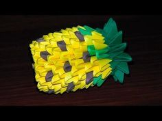 Modular origami pineapple master class (microns) for beginners - YouTube