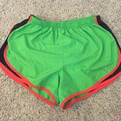 Nike shorts Green, orange and black Nike Shorts
