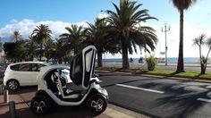 Location de voitures à Nice. Renault Twizy, Honda Jazz