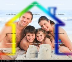 http://www.photaki.com/picture-family-on-a-beach-with-colored-house-illustration_787483.htm